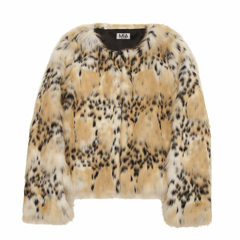 Mia New York - Leopard Faux Fur Jacket