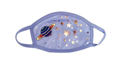 Mini Dreamers Limited Edition Out of Space Metallic Stars Face Mask