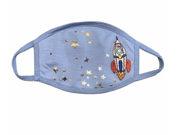 Mini Dreamers Limited Edition Rocket Metallic Stars Face Mask