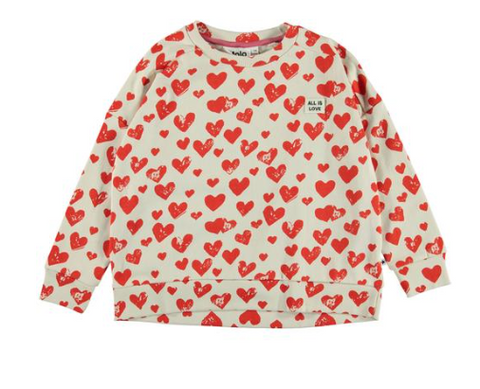 Molo All Around Hearts Sweatshirt