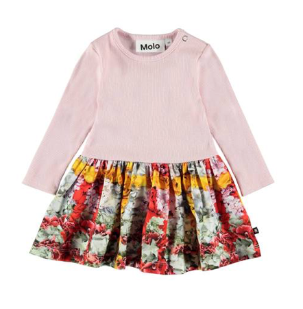 Molo Carla Checkered Flowers Baby Dress