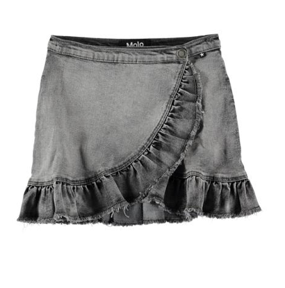 Molo Ruffle Denim Skirt