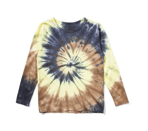 Munster Kids Bolt Tie Dye Long Sleeve Tshirt