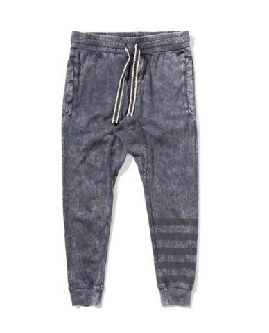 Munster Kids Crystal Distressed Striped Sweatpants (Preorder)