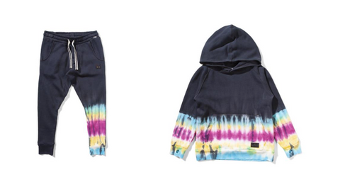 Munster Kids Sock It Tie Dye Sweatpants (Preorder) and Rasta Tie Dye Hoodie (Preorder)