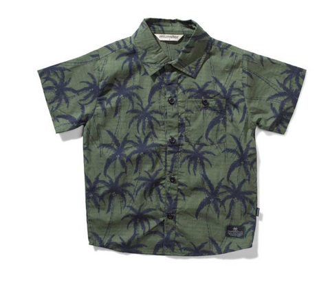 Munster Kids Stay Away Palms Button Down Top