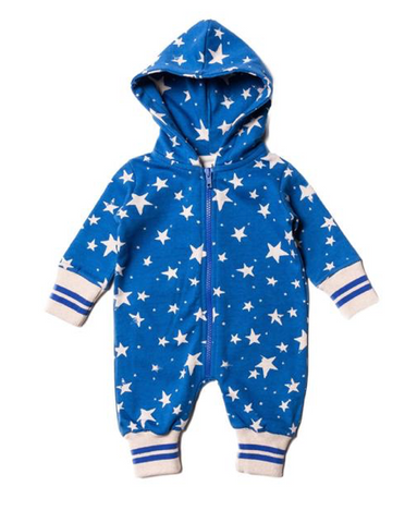 Noe & Zoe Cosmic Star Fleece Lined Romper (Preorder)