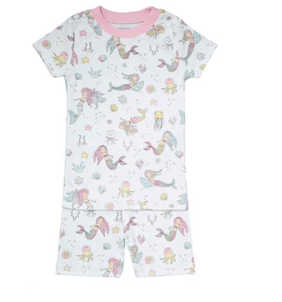 Noomie Mermaid Short Sleeve Two Piece PJs