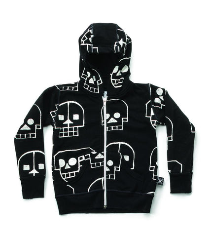 Nununu- All Around Robot Skull Zip Up Hoodie