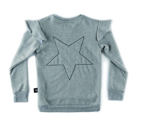 Nununu Embroidered Star Ruffle Sweatshirt (Preorder)