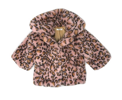 Oh Baby! Leopard Faux Fur Jacket in Pink