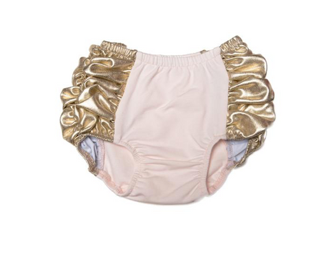 Oh Baby! Metallic Shimmery Gathered Diaper Cover