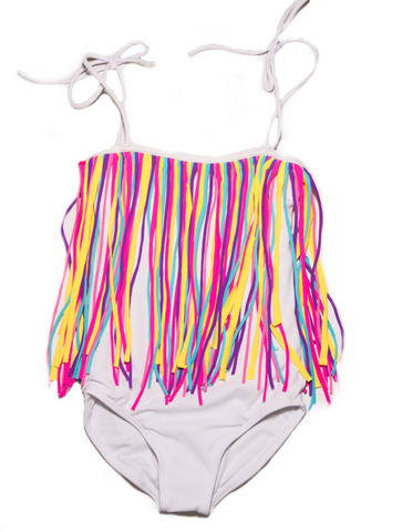 Peixoto Kids Fringy Rainbow One Piece Bikini