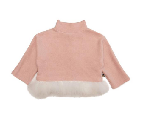 Petite Hailey Feather Long Sleeve Top
