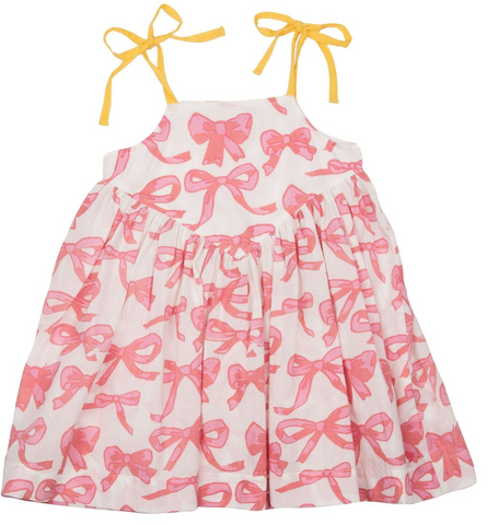 Pink Chicken Bows Monroe Dress