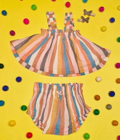 Pink Chicken Emma Stripes Tank and Bloomers Set