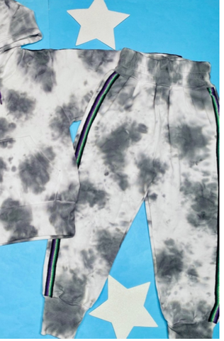 Pitusa Tie Dye Trackie Sweatpants in Grey