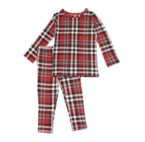 Posh Peanut Noah Plaid Two Piece PJs