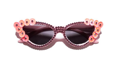 Rad + Refined Crystal Cat Eye Sunglasses