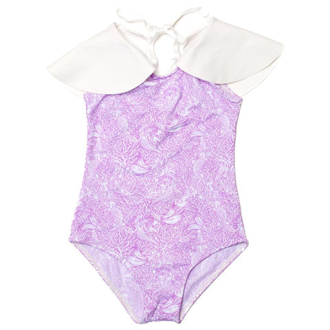 Riding Unicorns- Ru Whimsical Cape Mermaids One Piece Swimsuit