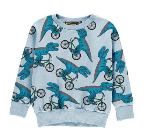 Rock Your Baby Dino Bike Sweatshirt