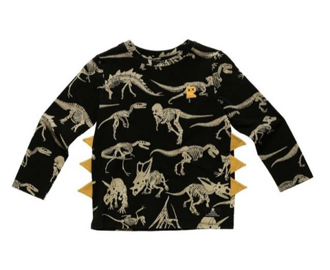 Rock Your Baby Dino Fossil Long Sleeve Tshirt