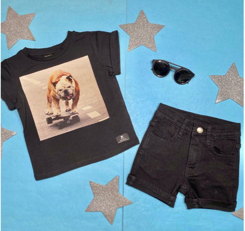 Rock Your Baby Skater Dog Tshirt