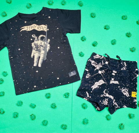 Rock Your Baby Stay Rad Spaceman Tshirt