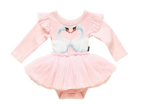 Rock Your Baby Swan Tutu Onesie Dress