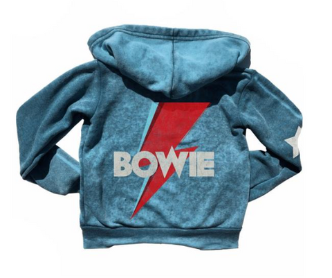 Rowdy Sprout Bowie Burnout Zip Up Hoodie