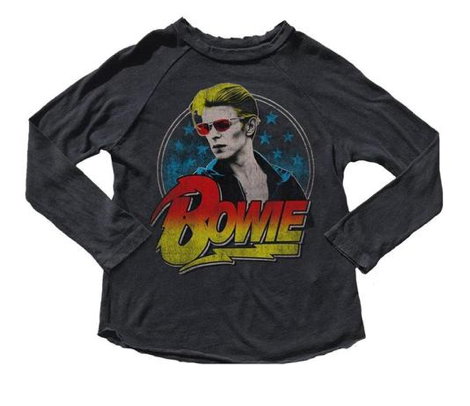Rowdy Sprout David Bowie Long Sleeve Tshirt