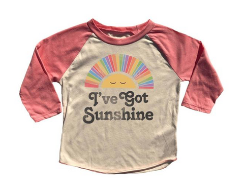 Rowdy Sprout I've Got Sunshine Raglan Tshirt