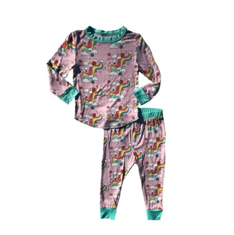 Rowdy Sprout Rainbow Love Bamboo PJ Set