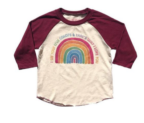 Rowdy Sprout True Colors Raglan