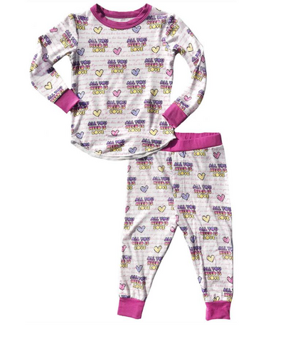 Rowdy Sprout - All You Need Is Love Bamboo Long Sleeve PJs