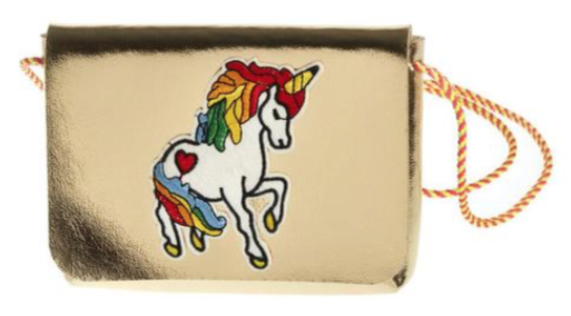ooahooah unicorn metallic crossbody purse
