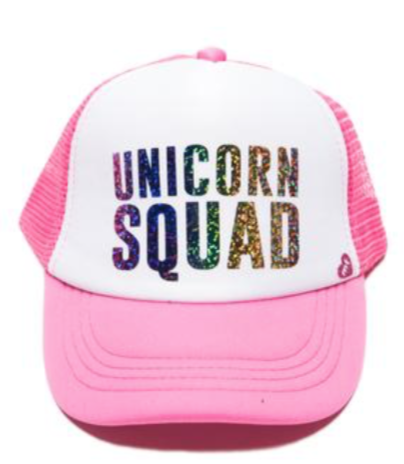 mother trucker unicorn squad glitter hat