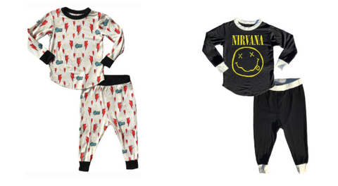 Rowdy Sprout - Bowie Bamboo Pjs or Rowdy Sprout - Nirvana Bamboo Pjs