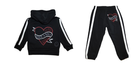 Lauren Moshi - Rock N' Roll Hoodie and Sweatpants