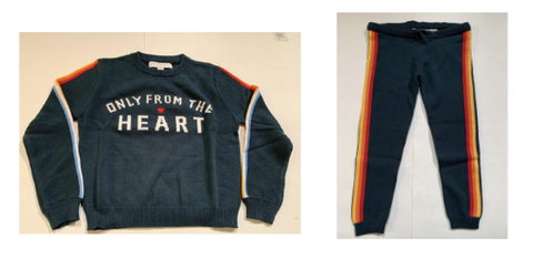 Spiritual Gangster Only From The Heart Knitted Sweater and Rainbow Knitted Sweatpants