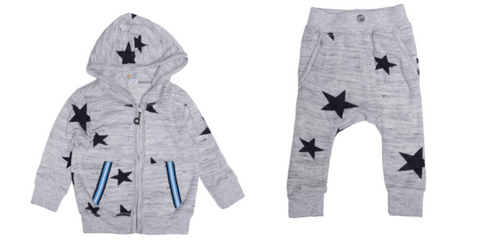 T2Love - Star Hooded Zip Up  & T2Love - Star Harem Sweatpants