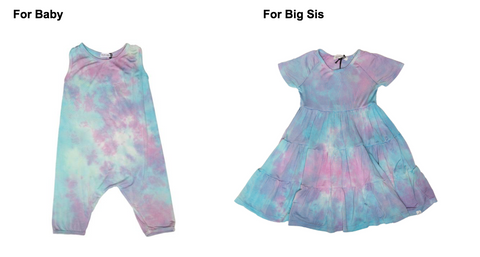 Little Moon Society Unicorn Tie Dye Romper, Little Moon Society Ryan Ruffle Unicorn Dress,