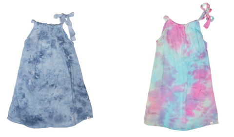 Little Moon Society Hailey Tie Strap Tie Dye Flowy Dress & Little Moon Society Hailey Tie Strap Unicorn Flowy Dress