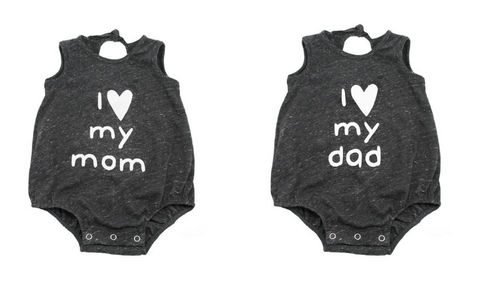 Oh Baby! I <3 My Mom Onesie (Preorder) & Oh Baby! I <3 My Dad Onesie (Preorder)