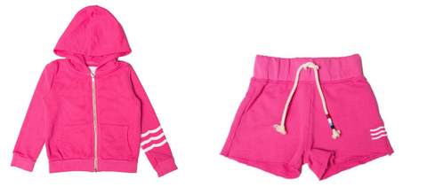 Sol Angeles Waves Zip Up Hoodie & Sol Angeles Kids Girls Waves Shorts
