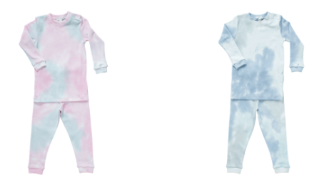 Noomie Pink Tie Dye Two Piece PJs & Noomie Blue Tie Dye Two Piece PJs