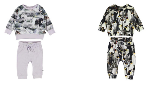 Molo Mystical Horses Sweatshirt and Leggings Set & Molo Penguins Sweatshirt and  Sweatpants Set