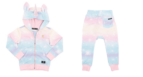 Rock Your Baby Unicorn Zip Up Hoodie & Rock Your Baby Rainbow Unicorn Sweatpants
