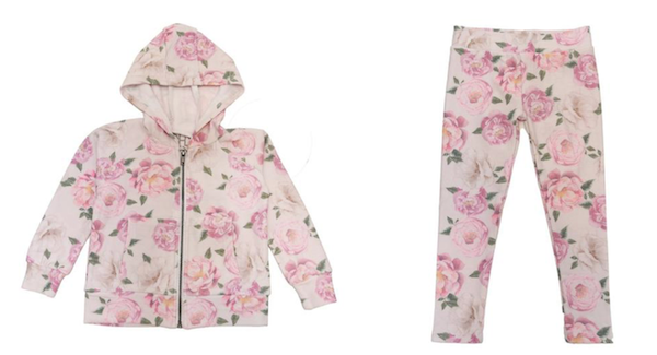 Chaser Floral Soft & Cozy Hoodie and Chaser Floral Soft & Cozy Leggings