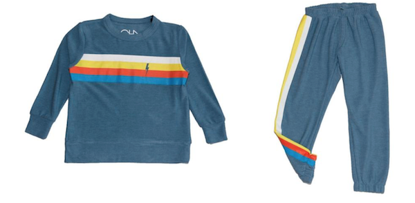 Chaser Stripe Soft & Cozy Sweatshirt and Chaser Stripe Soft & Cozy Sweatpants